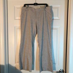 Gap Perfect Trouser in Tan Linen Size 12A
